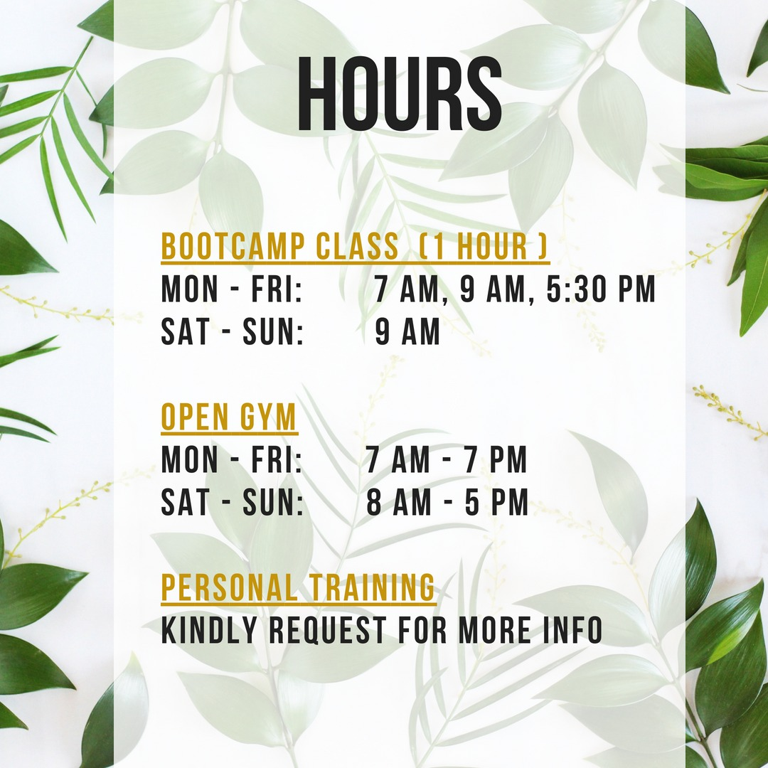 Empire Fit Bali Hours