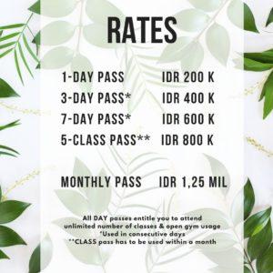 Empire Fit Bali Rates