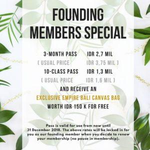 EmpireFitBali MembersSpecial