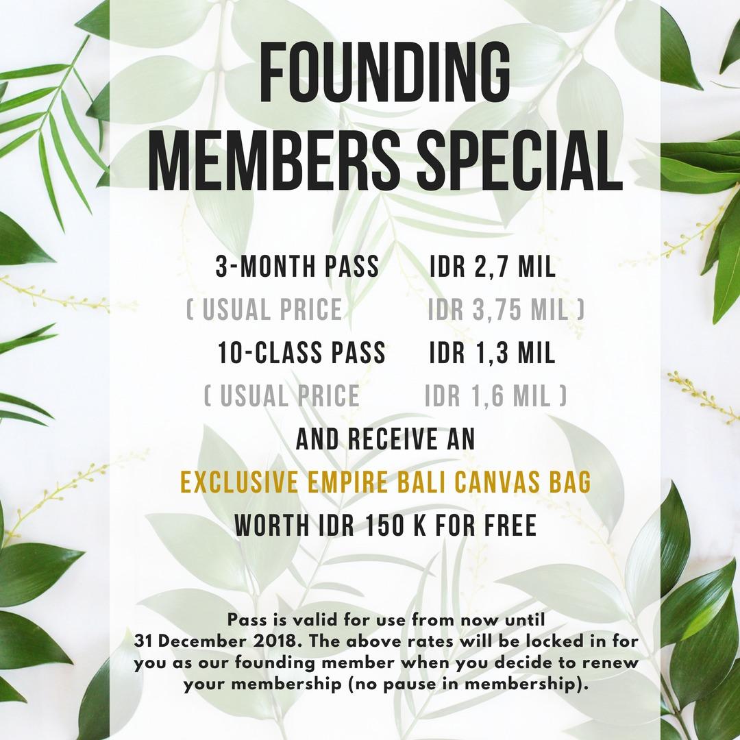 Empire Fit Bali - Members Special