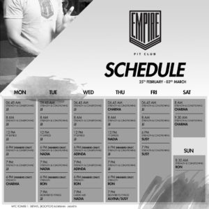 Empire Schedule